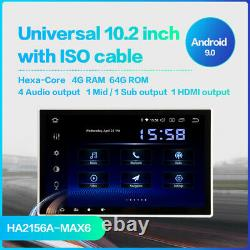 Dasaita 10.2 Octa Core Android Voiture Double Din Gps Px6 (4g Ram+64g Rom) Hdmi Dsp