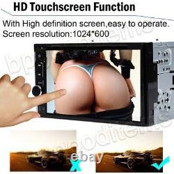 Doble Din Car Stereo DVD Reproducteur De CD + Cámara Touch Radio Mirror Para Gps