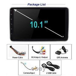 Double 1din Rotatif 10.1'' Android 9.1 Écran Tactile Voiture Stéréo Radio Gps Wifi