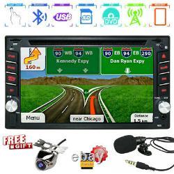 Double 2 Din 6.2 Voiture Stéréo DVD DVD Lecteur Gps Hd En Dash Bluetooth Radio Camera