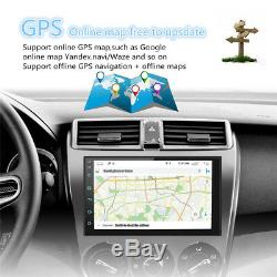 Double 2 Din Android 8.1 7 Tactile Voiture Gps Stéréo Radio Quad Core Player + Support