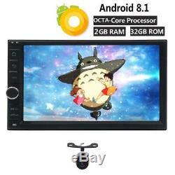 Double 2 Din Android 8.1 Voiture Radio Stéréo Gps Navi 8 Octa-core Wifi 4g +