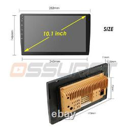 Double 2 Din Android 9.1 Voiture Stéréo 10.1 Inch Touch Screen Radio Bt Wifi Gps