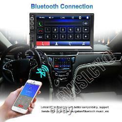 Double 2 Din Car Stereo 7+ Caméra De Secours Écran Tactile Radio Mirror Link Pour Gps