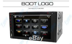 Double 2 Din Car Stereo Hd CD Lecteur DVD Bluetooth Radio Avec Caméra De Sauvegarde Aux