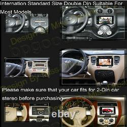 Double 2 Din Car Stereo Lecteur CD DVD Écran Tactile Radio Bluetooth Am Fm Usb Aux