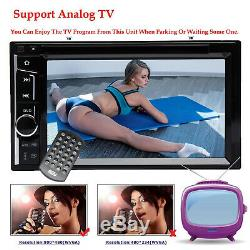 Double 2 Din Car Stereo Mirror Usb Lecteur CD DVD Lien Pour Ios Et Android Et Caméra