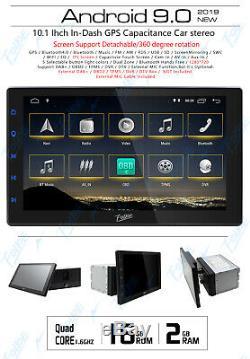 Double 2din 10.1inch Android 9.0 Quad Core Car Radio Dash En Stéréo Gps 4g Obdii