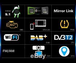 Double 2din 10.1inch Android 9.1 Quad Core Car Radio Dash En Stéréo Gps 4g Obd