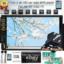 Double 2din 7inch Hd Touch Écran Voiture Stéréo Lecteur Radio Miroir Link-gps+camera