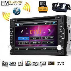 Double 2din Au Tableau De Bord Gps Navi Voiture Lecteur DVD Bluetooth Radio Stéréo Automatique Usb + Cam