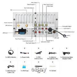 Double 2din Car Radio Stéréo Gps Lecteur Navi Bluetooth Usb Aux Sd Écran Tactile E