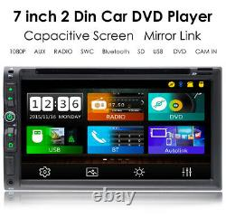 Double 2din In Dash Sony CD Lens 7car Stereo Radio Lecteur DVD Aux Bt Tf Mp3 MIC