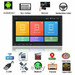 Double 2din Rotatable 10.1'' Android 9.1 Voiture À Écran Tactile Stereo Radio Gps Wifi
