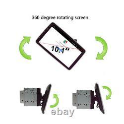 Double 2din Rotatif 10.1'' Android 9.1 Écran Tactile Voiture Stéréo Radio Gps Wifi