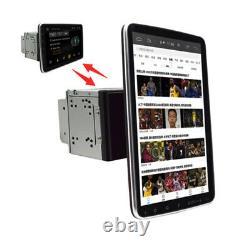 Double 2din Rotatif 10.1'' Android 9.1 Écran Tactile Voiture Stéréo Radio Wifi Gps