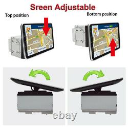 Double 2din Rotatif 10.1in Android 9.1 Voiture Radio Stereo Lecteur Vidéo Gps Wifi