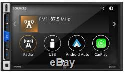 Double 7 2-din À Écran Tactile Bluetooth Stéréo Voiture Récepteur Multimédia Numérique