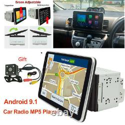 Double Din 10.1 Android 9.1 Car Stereo No DVD Gps Navi Radio With Camera Wifi