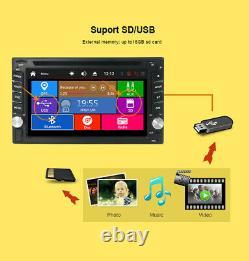 Double Din 6.2 Voiture Stereo Sat Nav Lecteur Gps DVD Stéréo Unité Tête Usb Aux Sd Map