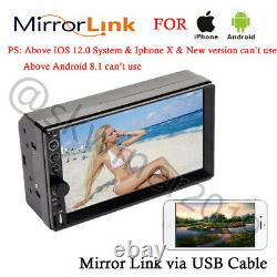 Double Din Bluetooth Indash Stereo Radio Player Mirror Link For Map Navigation 7