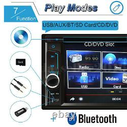 Double Din Car Radio Dans Dash Music Player Mp3 CD DVD Stereo Mirror Link Pour Gps