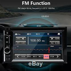 Double Din Car Stereo 6.2 DVD CD À Écran Tactile Radio Miroir Lien Pour Gps Android