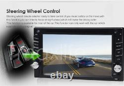 Double Din Car Stereo 6.2 DVD CD Touch Screen Radio Mirror Link Pour Android&ios