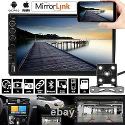 Double Din Car Stereo Et Backup Camera Touch Screen Radio Mirror Link Pour Gps
