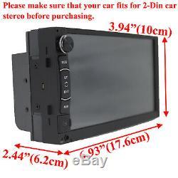 Double Din Car Stereo Head Unit Tactile Mp5 Usb Radio Hd Avec Caméra De Recul