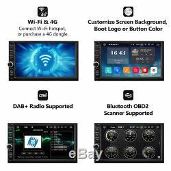 Double Écran Tactile 4g De Navigation De Gps De Radio De Voiture De Radio De Voiture De Din 7android 9.0 2gb Ram