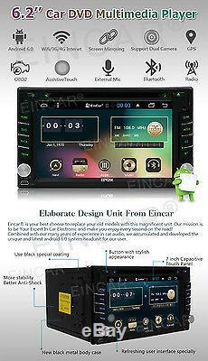Double Lecteur DVD 2din Android 6.0 Gps Voiture Stéréo Voiture Bt Hd Radio Mp3 Wifi Gratuit