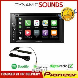 Double Pioneer Avh-z3200dab Din Stéréo D'apple Voiture Bluetooth Lecture Dab + + Antenne
