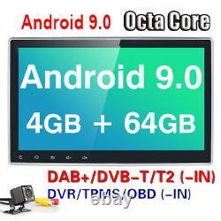 Dsp + Caméra 10.1 Android 10 4 + 64go Double 2 Din DVD De Voiture Stéréo Radio Gps Navi