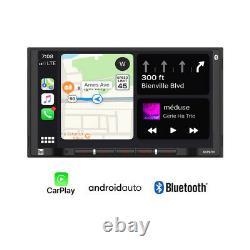 Dual Dcpa701 2din 7 Digital Media Car Stereo Avec Bluetooth Apple Carplay Android