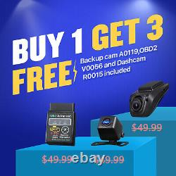 Dvr+cam+obd+double 2din 7in Android 10 Voiture Stereo Mp5 Lecteur Gps Navi Wifi Radio