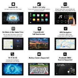 Dvr+cam+obd+double 2din Android 10 7 1080p Voiture Stéréo Radio Gps Wifi Quad-core
