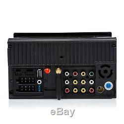 Écran Tactile Voiture Stéréo Radio Double 2 Din Gps Wifi Lecteur Usb Avec 8 Led Camera