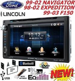 F150 Navigator Expedition Econoline Van Radio Stéréo Pour Voiture Bluetooth Touchscreen