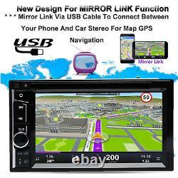 Fit 2007-14 Chrysler Dodge Jeep Car CD DVD Stéréo Bluetooth 2din - Caméra De Secours