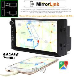 Fit Toyota Corolla Avalon 2 Din Car Stereo Radio Usb Wifi Mirrorlink Pour Gps+cam