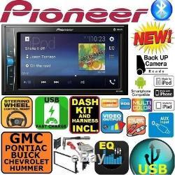 Fits Gm Car-truck-van-suv Pioneer Bluetooth Radio Stéréo Double Din Dash Kit Usb