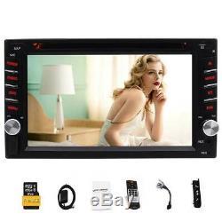 Gps Double 2 Din Car Stereo Radio CD Lecteur DVD Bluetooth Avec Au Tableau De Bord Gratuit Carte