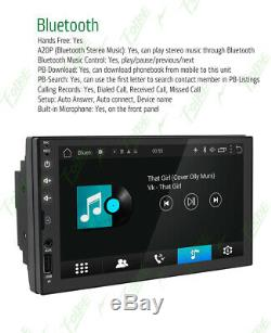 Gps Navi Wifi Double 2din 7 Smart Android Car Stereo No DVD Radio Cam Bluetooth