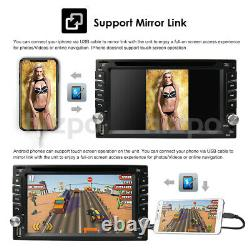 Gps Navigation+8gb Carte Bluetooth Radio Double Din 6.2 Voiture Stereo DVD Lecteur CD