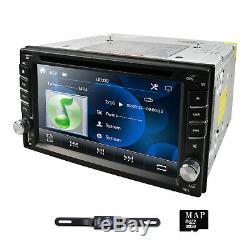 Gps Navigation Hd Double 2 Din Voiture Stéréo Lecteur DVD Bt 1080p Radio Mp3 Au Tableau De Bord