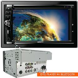 Gravity Car Audio DVD Stereo Double Din Touch Screen CD Player Am/fm Bluetooth