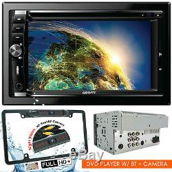 Gravity Car Audio Double Din 6.2 Tactile LCD DVD CD Mp3 Bluetooth + Camera