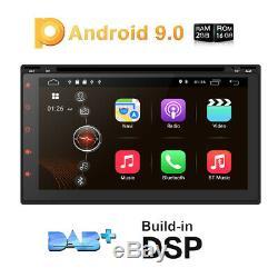 Hizpo 7 '' Pouces Android 9.0 Wifi 4g Double 2din Voiture Radio Stéréo Lecteur DVD Gps E