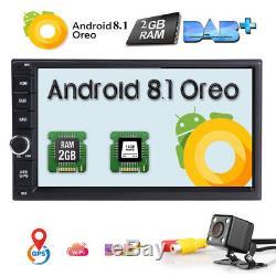 Hizpo Android 8.1 Double Din Voiture Stéréo Radio Gps Wifi 4g Obd2 Hd Lien Miroir Bt